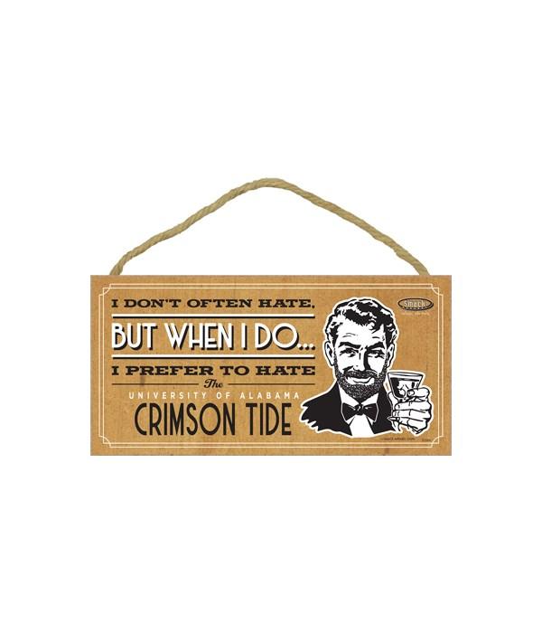 I prefer to hate Alabama Crimson Tide