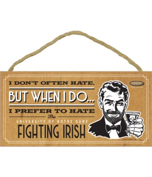 I prefer to hate ND Fighting Irish