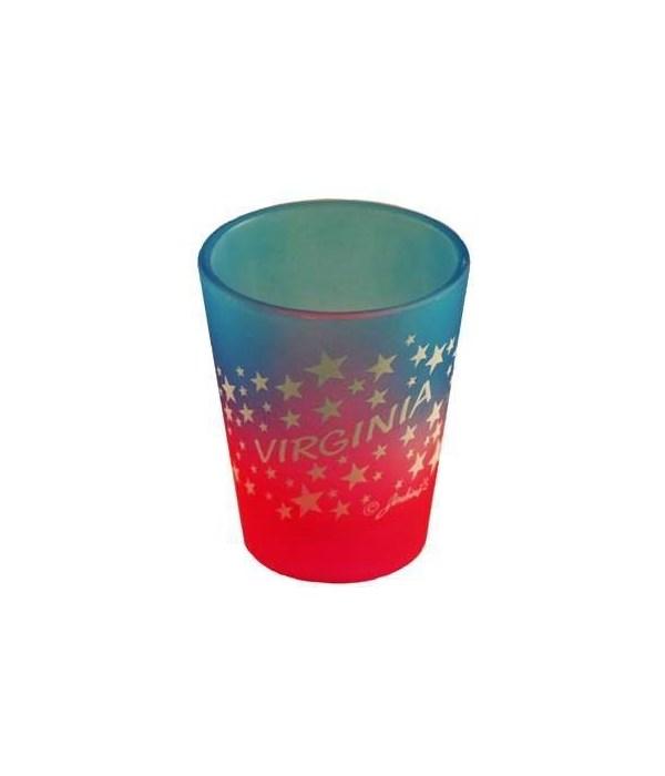 VA Shotglass Multi Color Stars