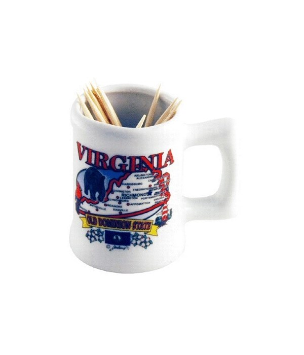 Virginia Toothpick Holder - State Map