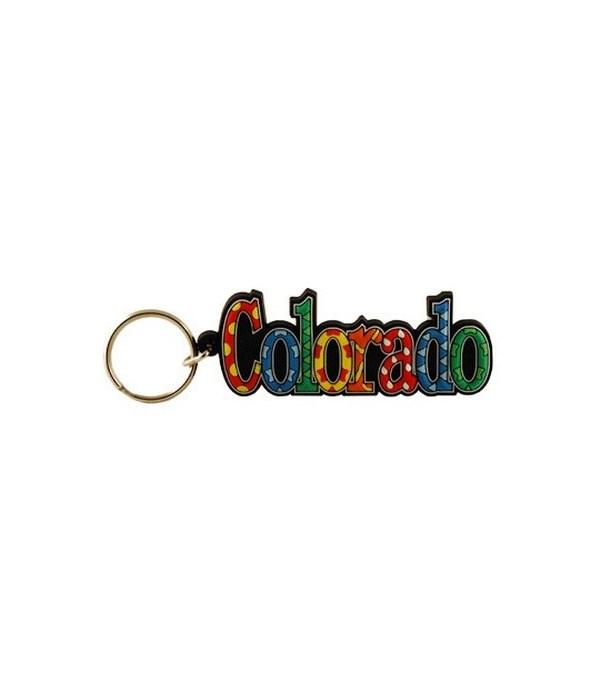 CO Keychain PVC Festive