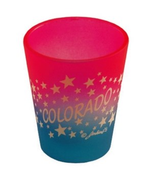 CO Shotglass Multi-Color Stars