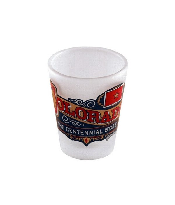 CO Shotglass Frosted Banner