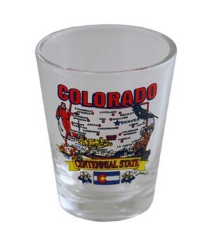 CO Shotglass State Map