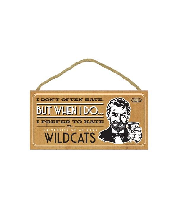 I prefer to hate Arizonia Wildcats