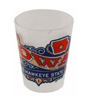 Iowa Shotglass Frosted Banner