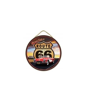 "Route 66- '55 Corvette 10"" sign"