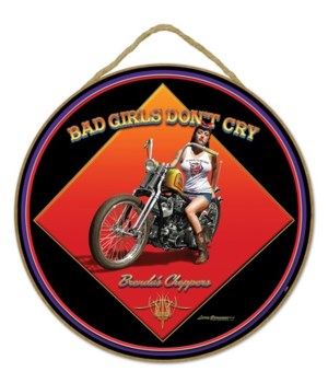"Bad Girl Car 10"" sign"