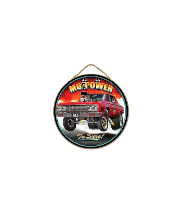 """Mo' Power '64  Plymouth 10"""" sign"""
