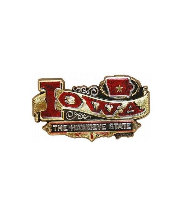 Iowa Magnet 2D Banner