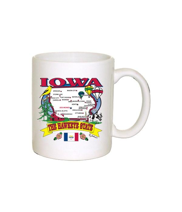 Iowa Mug State map