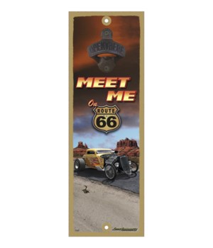 Meet me on Route 66 (yellow hot rod)