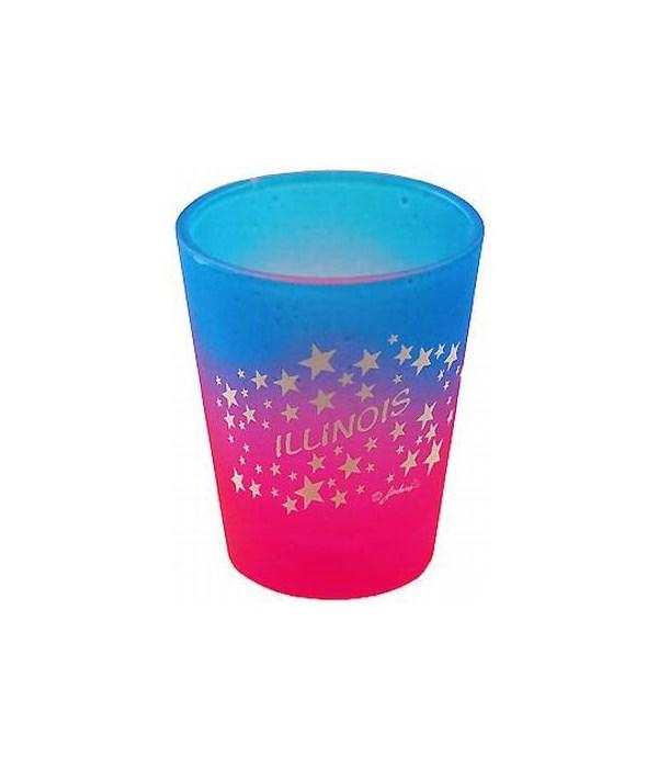 IL Shotglass Multi Color Stars