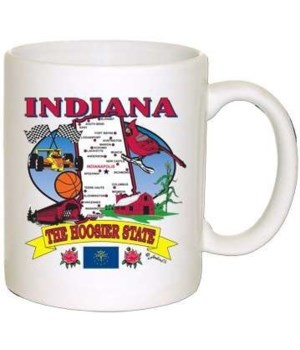 IN Mug State Map
