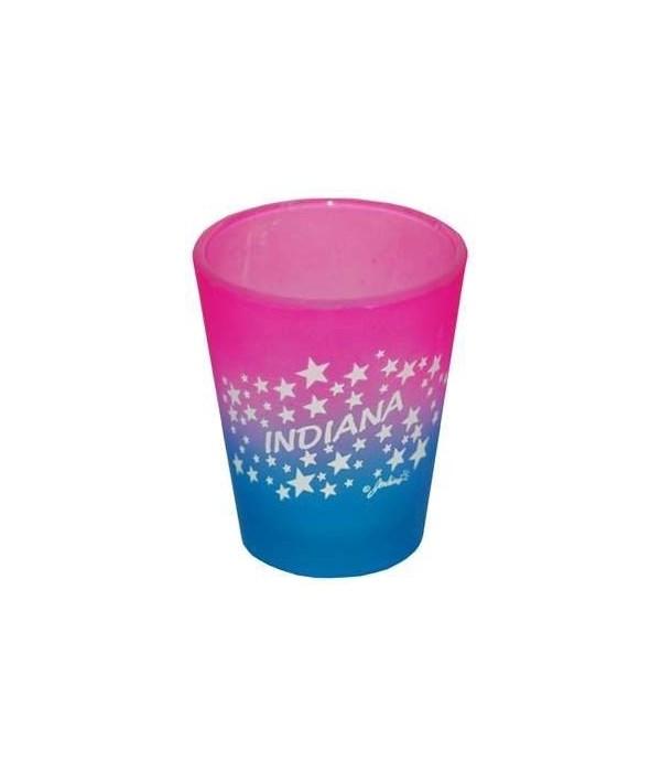IN Shotglass Multi-Color Stars