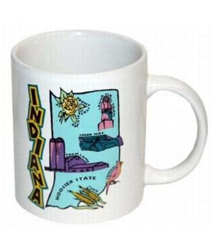 *Indiana Mug(map-cartoon elements)