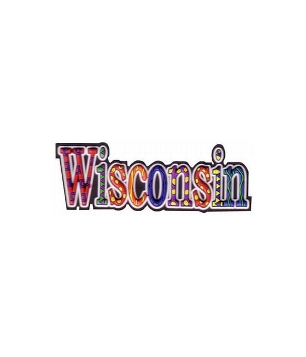 Wisconsin Magnet PVC Festive