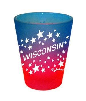 WI Shotglass Multi Color Stars