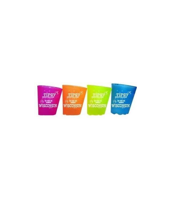 WI Shotglass Tipsy 4/A