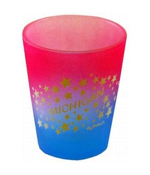 MI Shotglass Multi Color Stars