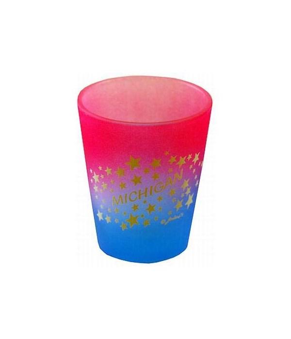 MI Shotglass Multi Color Stars