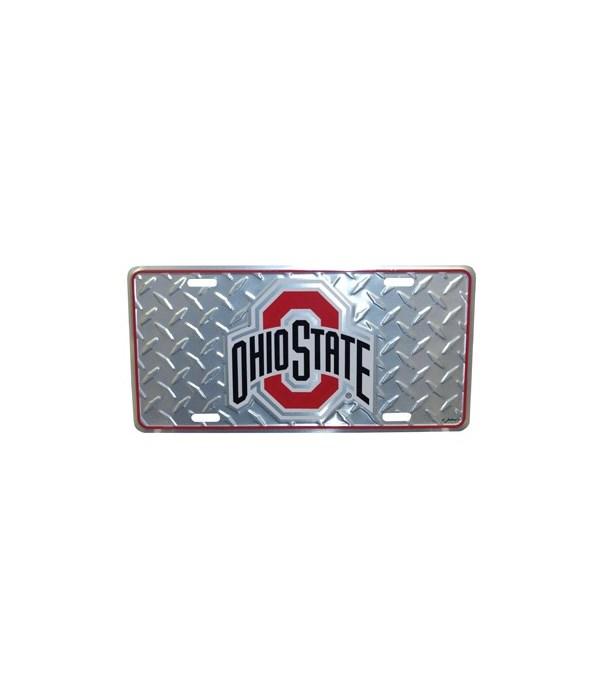 OH-S Car Tag Diamond Plate