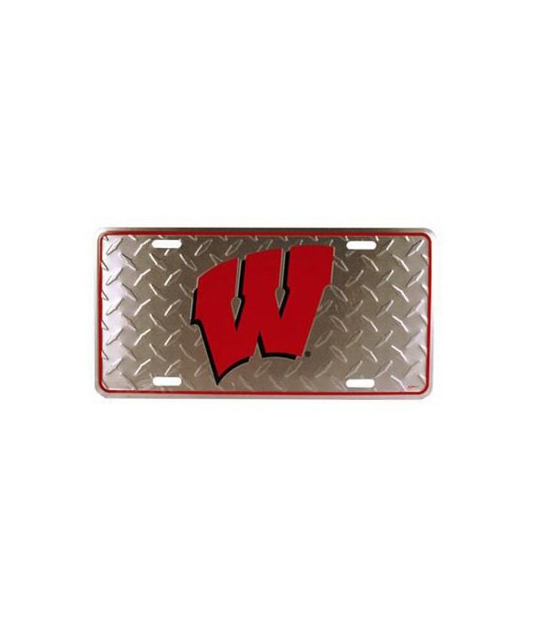 U-WI Car Tag Diamond Plate