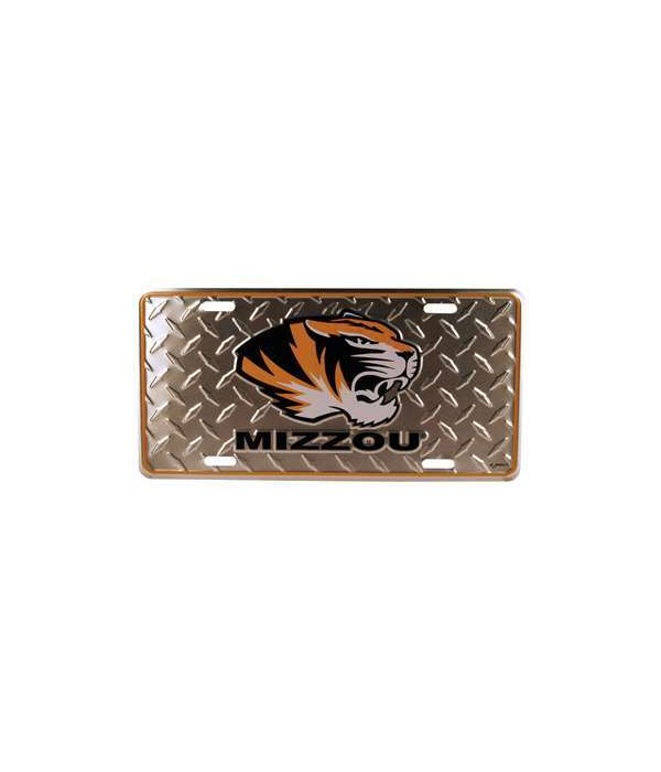 U-MO Car Tag Diamond Plate
