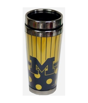 U of M Mug Travel Polka Dot 14oz