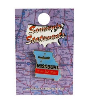 MO Lapel Pin State Map