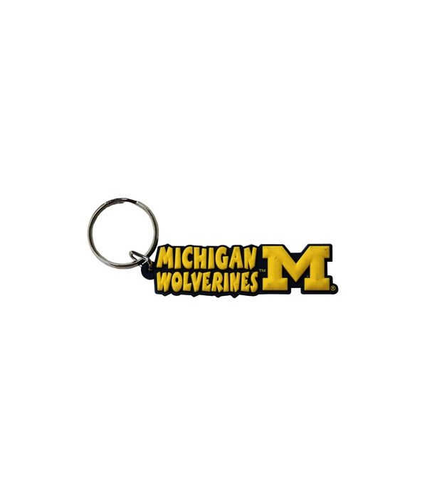 U of M Keychain PVC Festive