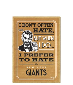 I prefer to hate New York Giants
