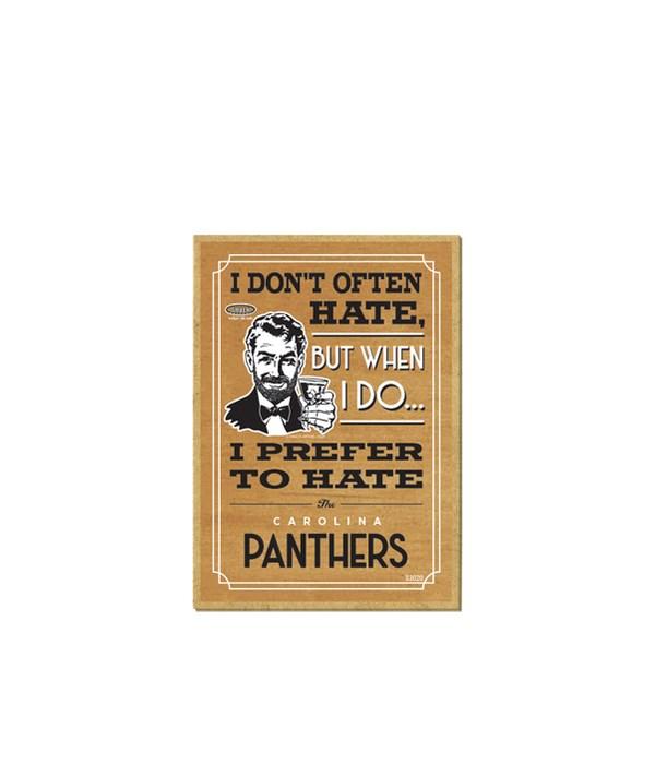 I prefer to hate Carolina Panthers
