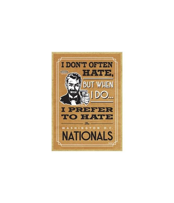 I prefer to hate Washington DC Nationals