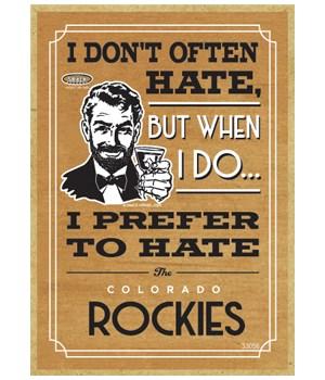 I prefer to hate Colorado Rockies