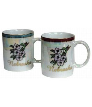 NE Mug Pearlized Flower