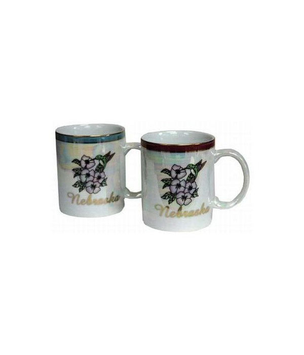 NE Mug Pearlized Flower