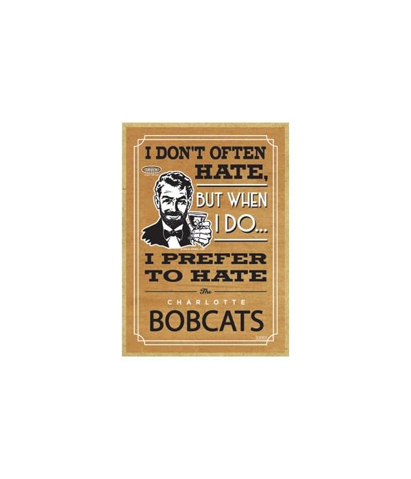 I prefer to hate Charlotte Bobcats