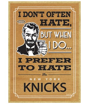 I prefer to hate New York Knicks