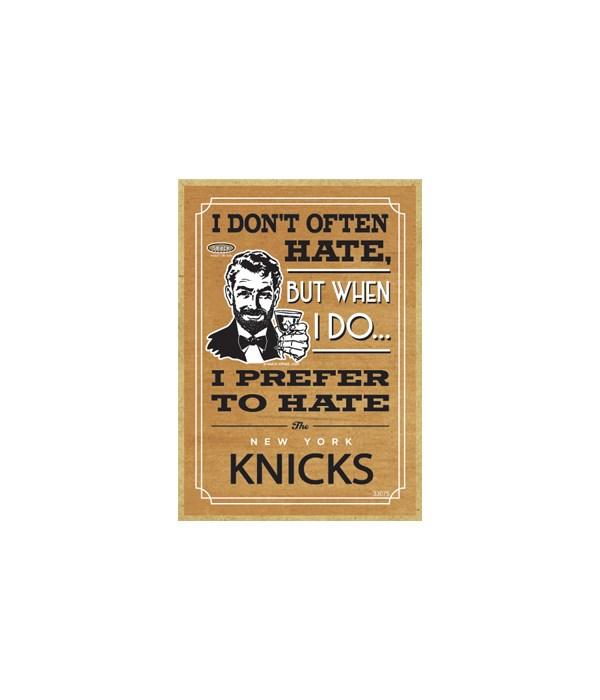 I prefer to hate New York Knicks