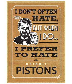 I prefer to hate Detroit Pistons