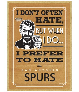 I prefer to hate San Antonio Spurs