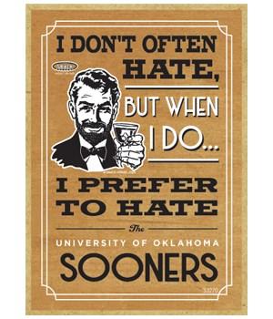 I prefer to hate Oklahoma Sooners