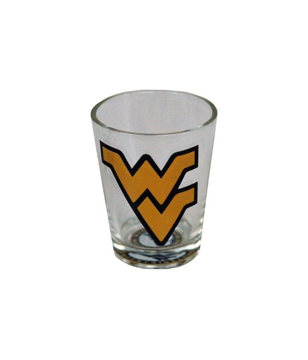 *WVU Shotglass Bullseye Bottom
