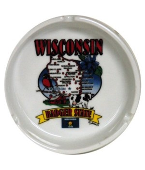 WI Ashtray State Map