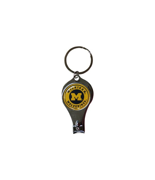 U of M Keychain Nail Clipper Bullseye