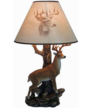 "Deer Lamp 20""(+shade)"