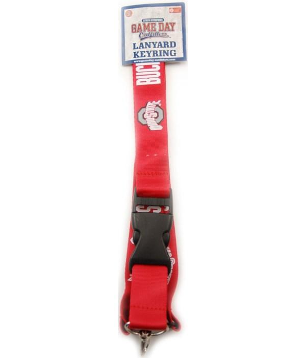 *OSU lanyard/K/C-scarlet w logo