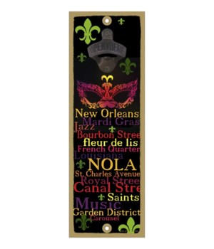 FLA - New Orleans Mask art - Words of N