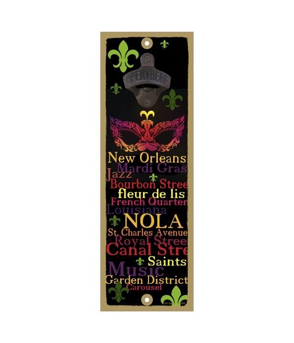 FLA - New Orleans Mask art - Words of N